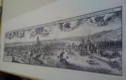"""Kupferstich von Caspar Merian """"Frankfurt im Jahre 1657"""""""